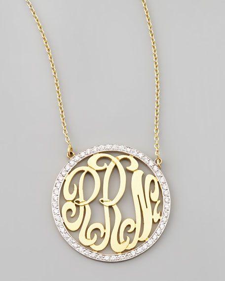 Cutout-Monogram Medium Pave White Diamond Necklace @Reis-Nichols Jewelers - Engagement Rings, Wedding Bands, Fine Jewelry & Swiss Watches