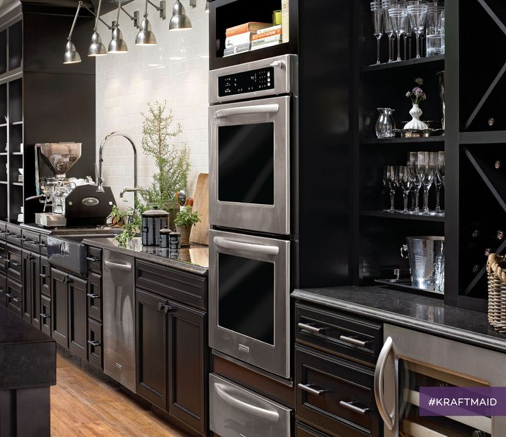 Dark Kitchen Cabinets U2014 Like These Maple Cabinets In Onyx U2014 Are Both  Timeless And Trendy