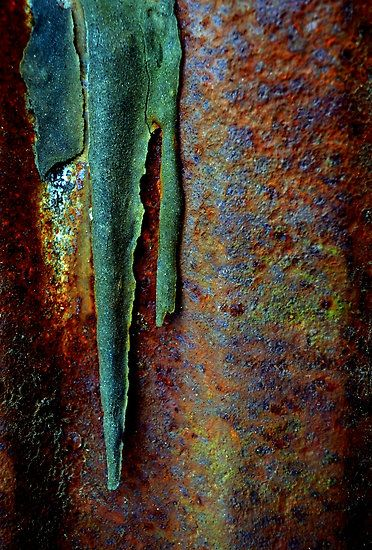 """Rusted and Peeling Metal"" by Wendy Brusca: Colors Combos, Patinas Rust Metals, Paintings Colors, Paintings Rust Patinas Texture, Population Zero, Rusty Metals, Rust Colors Wall, Colour Palettes, Wendy Brusca"