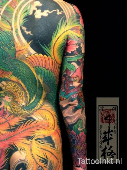 Yoko Uki - full body suit tattooed by Shige, Yellow Blaze tattoo studio, Japan