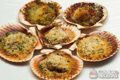 Receita de Vieira au gratin em receitas de crustaceos, veja essa e outras receitas aqui!