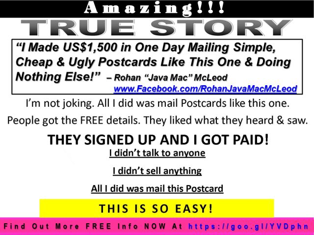 FREE Postcard Marketing — 30 Day Marketing Success Guide