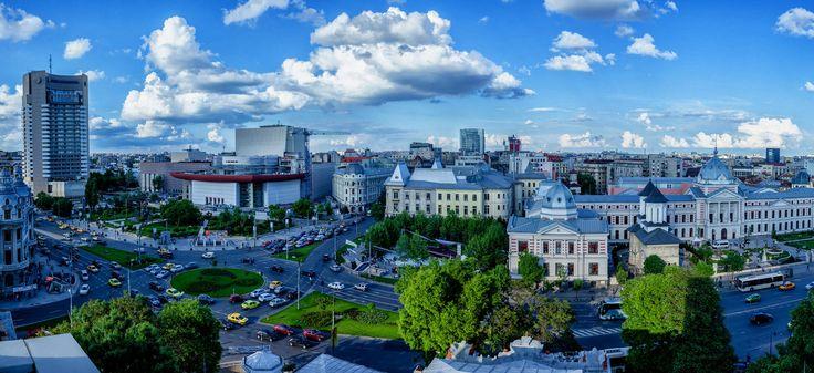 University Square Panorama - Bucharest