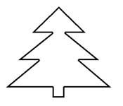 Several Christmas Tree Patterns for Preschool Crafts