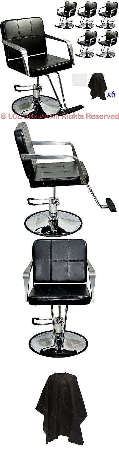 Salon Chairs and Dryers: 6X Professional Black Hydraulic Styling Barber Chair Spa Beauty Salon Equipment -> BUY IT NOW ONLY: $739.88 on eBay!