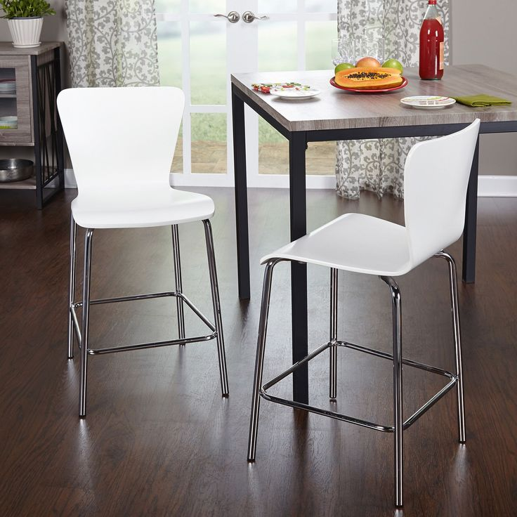 Simple living 24 inch pisa stool set of 2 by simple for Bentwood kitchen cabinets