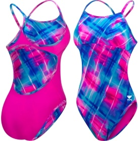 TYR Women's Baja Plaid Reversible Diamondfit Swimsuit with Cups - Dick's Sporting Goods