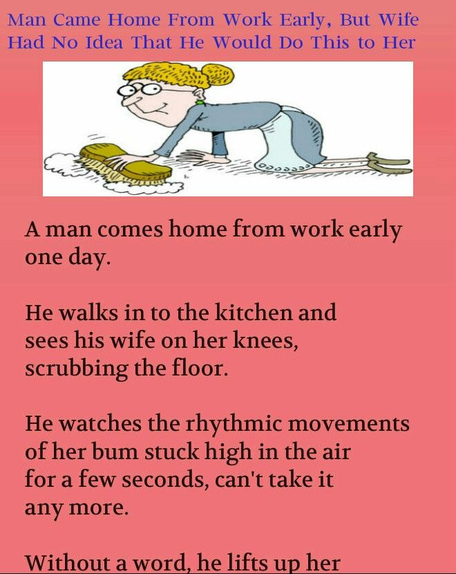 Man Saw His Wife On Knees In Kitchen Husband Wife Funny Jokes