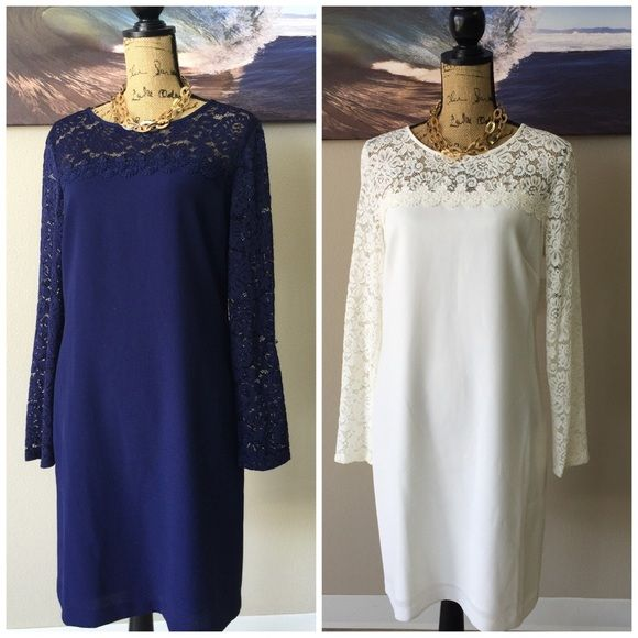 ⭐️FLASH SALE⭐️ LAUNDRY Dress (White or Blue) See photo for measurement details and pleas ask all questions prior to purchasing.  Laundry Dresses