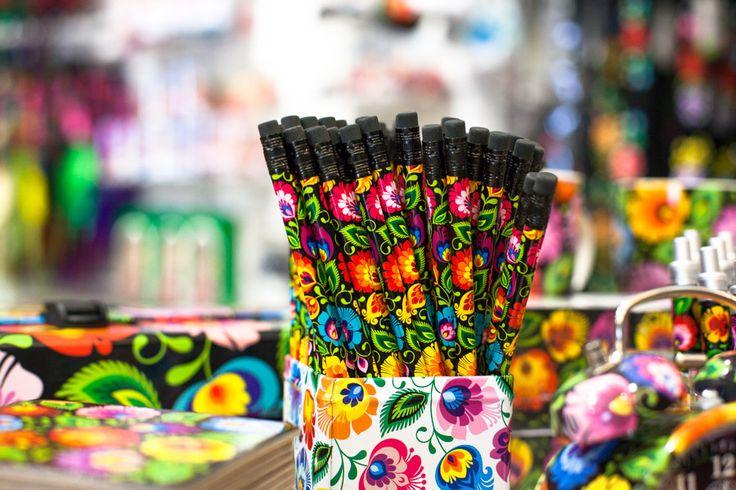 Ołówek, folk, folkstar, folklor, na ludowo, ludowe, kolorowe, design, łowicz