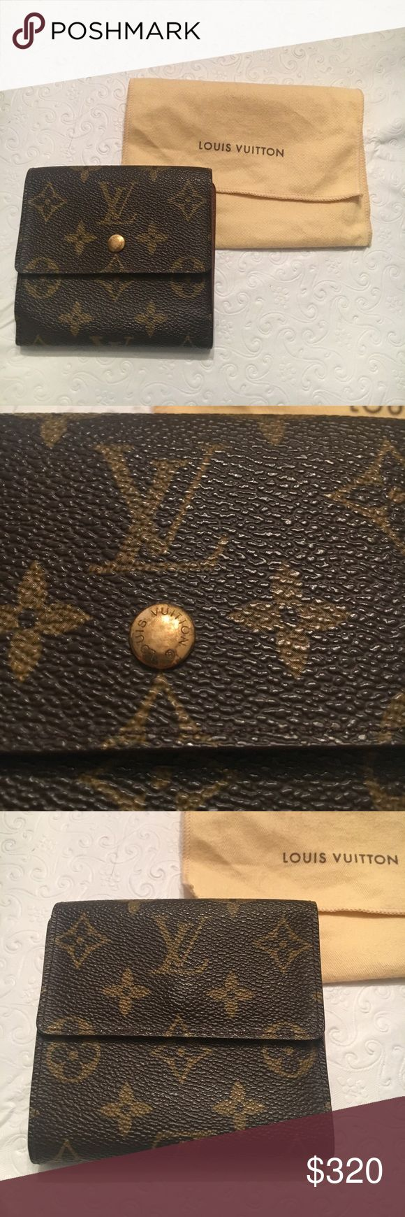 Authentic Louis Vuitton Wallet Authentic LV wallet. This one has been used and shows wear mainly on the inside but also some on the sides. Comes with dustbag purchased from Saks. The date code is really hard to read due to wear which is reflected in price Louis Vuitton Bags Wallets