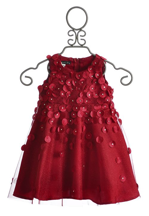 Biscotti Falling for Dots Little Girls Red Dress $86.00
