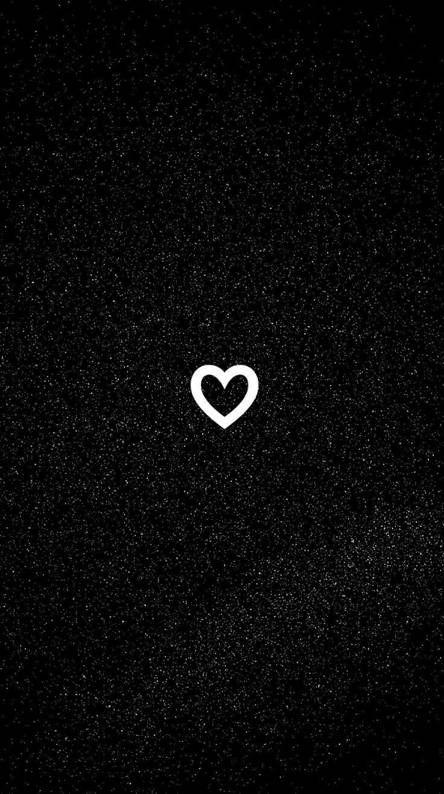 Black Heart Whatsapp Background Phone Wallpaper Quotes Message Wallpaper
