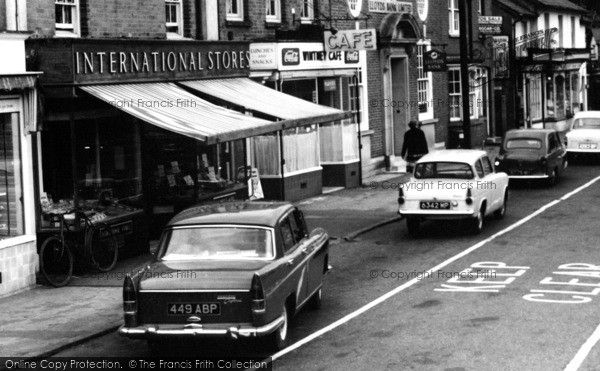 Hartley Wintney, International Stores, High Street 1961, from Francis Frith