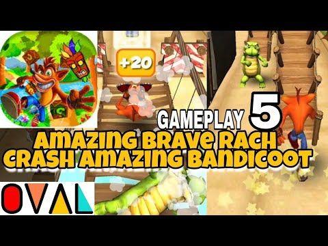 Amazing Brave Rach Crash Bandicoot Walkthrough Gameplay 5 OVAL PEGI 3 Genre: Adventure . Amazing Brave Rach - Crash Amazing Bandicoot Fox Runner Game Gameplay 5 Ashbgames OVAL