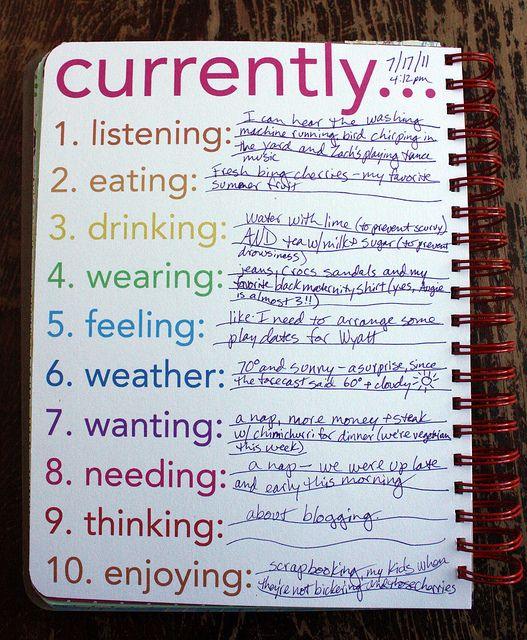 great journaling idea