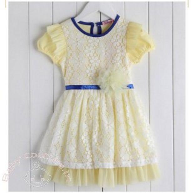 ec636543932de Cute Lovely Light Yellow Net Frock for baby girl birthday.   babybirthdaydress  birthdaydressesforkids