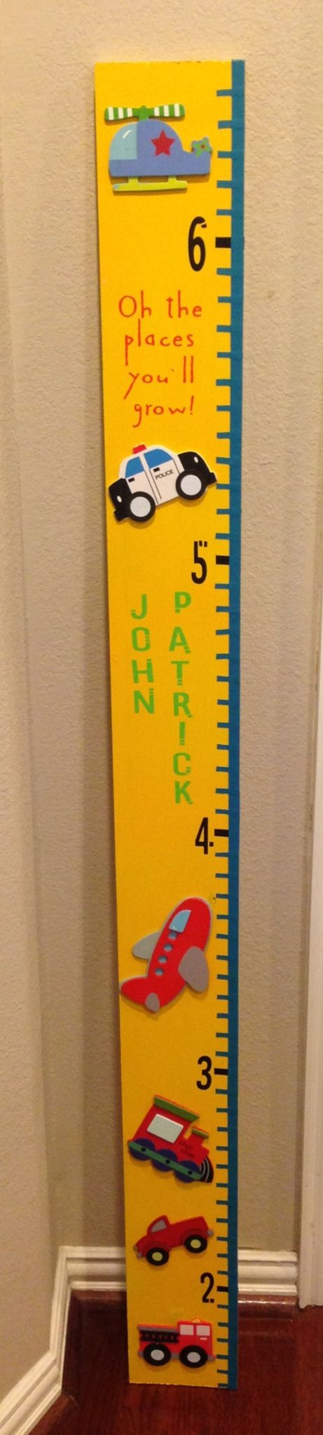 The 25 best boys growth chart ideas on pinterest growth chart diy boys growth chart spray painted a 1x6 board then hot glued prepainted shapes bought nvjuhfo Gallery