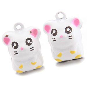 25pcs Lots Little Mouse Animal Shapes Brass Christmas Jingle Bells Decor Craft D | eBay