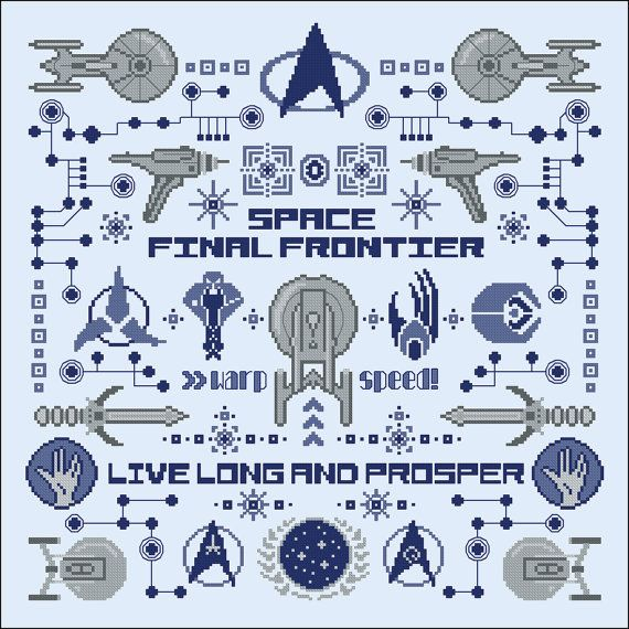 Star Trek parody pillow sampler Cross stitch PDF by cloudsfactory