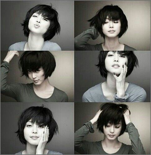 Gorgeous short black Japanese haircut♥