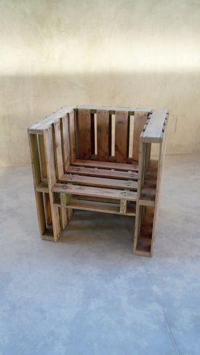 Cadeira feita a partir de Pallets
