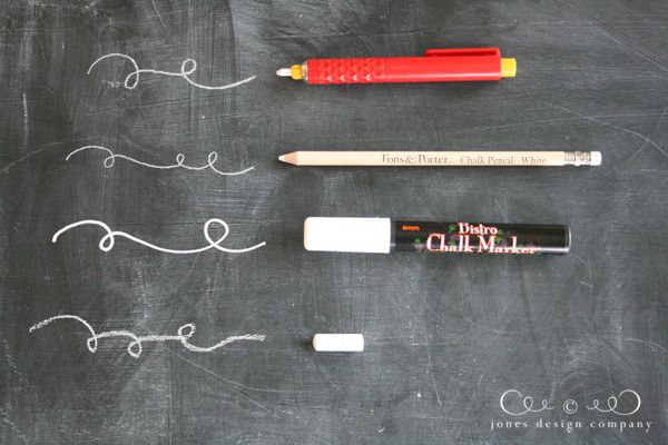 Options for writing on a chalkboard :: Jones Design Company