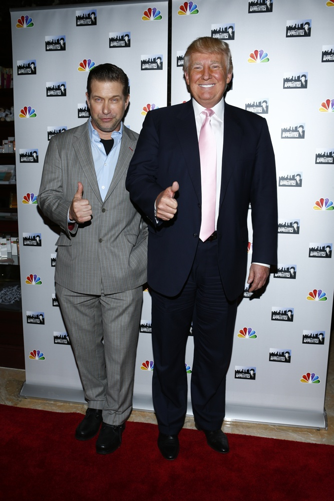 Donald Trump and All-Star Stephen Baldwin on the Celebrity Apprentice Premiere Red Carpet @ Trump Towers. #CelebApprentice