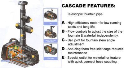 #Hozelock Cascade 4000 - includes impressive telescopic fountain pipe #waterfeature