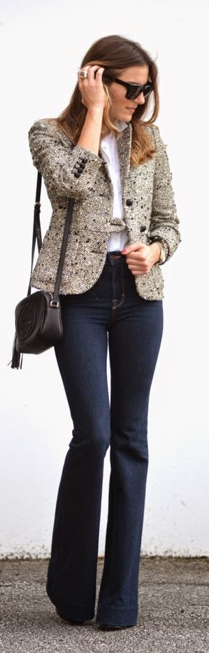 Tweed Blazer Streetstyle by The Quarter Life closet