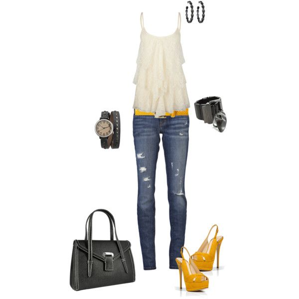 : Spring Fashion, Yellow Heels
