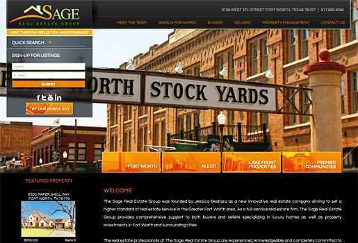 Website Real Estate Desain Terbaik - Sage Real Estate Group - Fort Worth, TX
