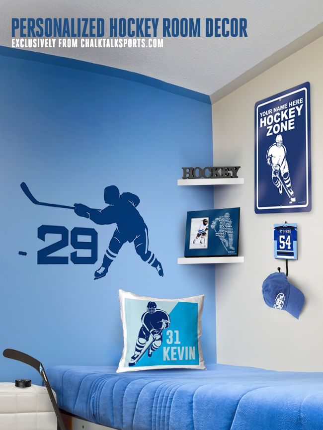 Wow This Personalized Hockey Room Decor Is Sweet!