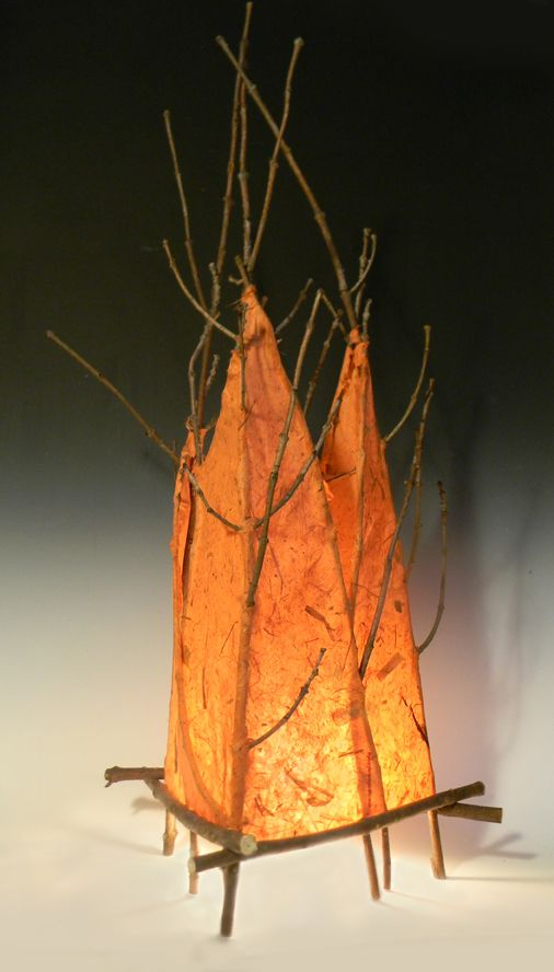 www.illuminationbydesign.com  Ash with handmade paper by Patricia McCleery