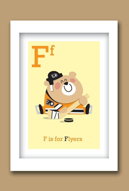 F+is+for+Flyers+Hockey+ABC+print++5+W+x+7H+Unframed+by+ABCMVPs,+$12.00