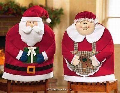 Fundas para sillas de Santa Claus y señora Claus, ideales para decorar, 2015 | Adornos de Navidad