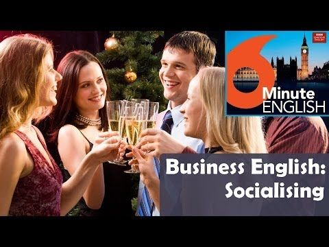 BBC 6 Minute Business English transcript video - Socialising: For many people, business socialising is a very important aspect of working life - but some people find it quite tricky, especially if English isn't their first language.  In this special business edition, Neil and Feifei explore basic business socialising language - and find out what to do if you can't quite remember someone's name!
