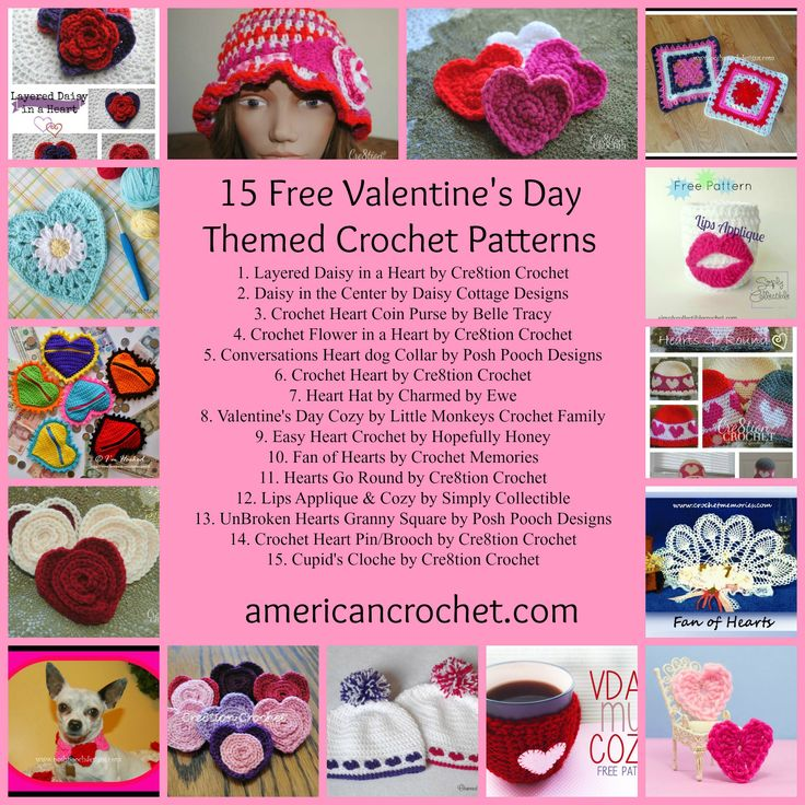 1000+ images about Valentines Day Crochet Patterns on Pinterest