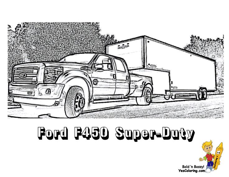 gallery for ford pickup truck coloring pages