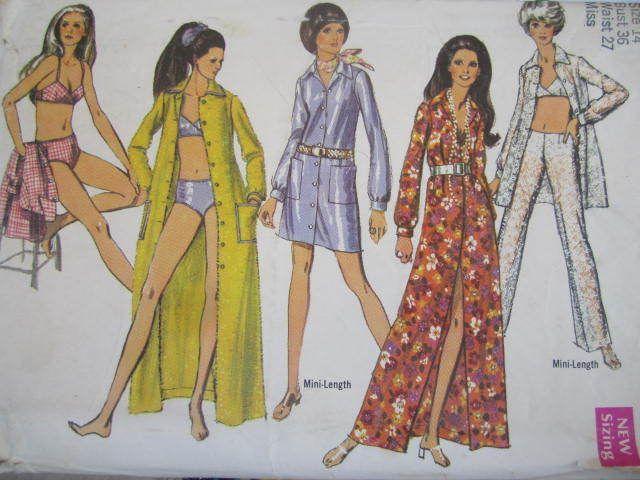 SeeSallySew.com - Bathing Suit Hip Hugger Pants Mini Shirt Shift Vintage Simplicity 8748 Pattern Sz. 14  , $12.00 (http://stores.seesallysew.com/bathing-suit-hip-hugger-pants-mini-shirt-shift-vintage-simplicity-8748-pattern-sz-14/)