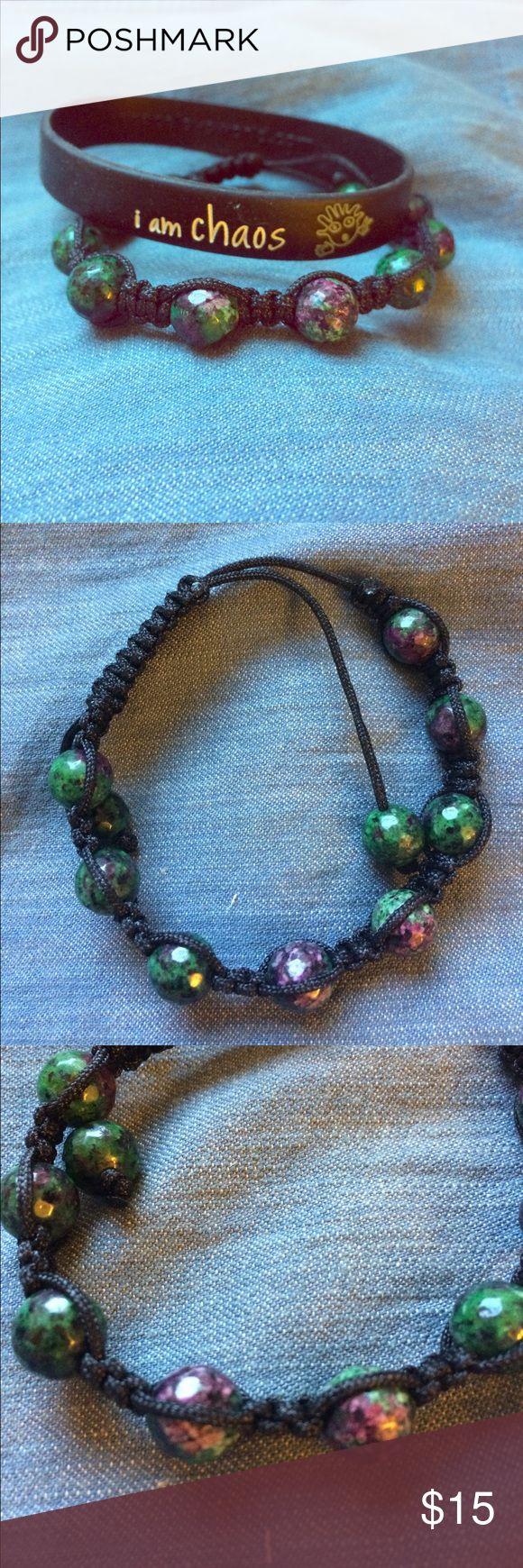 Bracelet BUNDLE - Peace Love World Bracelet bundle. Peace Love World Bracelet with green, purple and black bracelet. Both NWOT peace love world Accessories