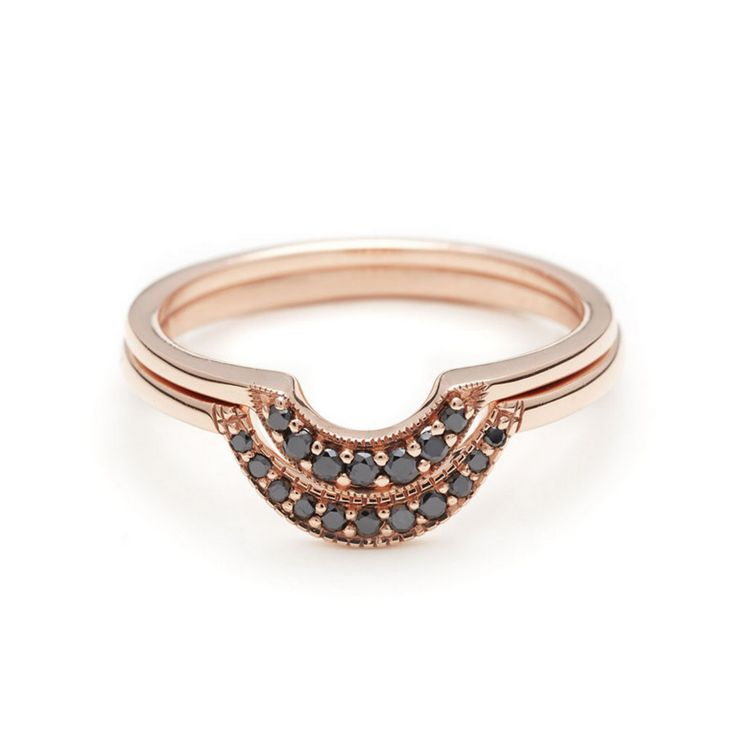 crescent wedding rings ny