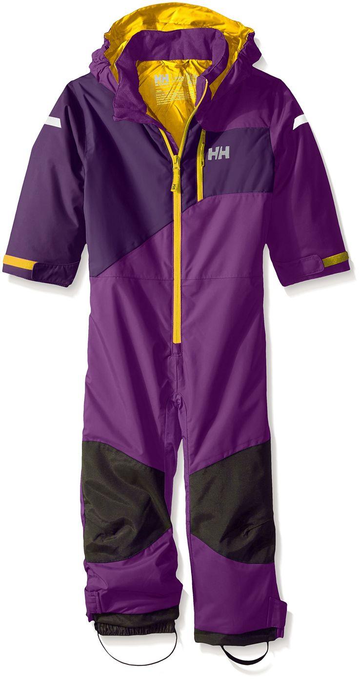 Helly Hansen Kids Powder Ski Suit, Sunburned Purple, Size 8