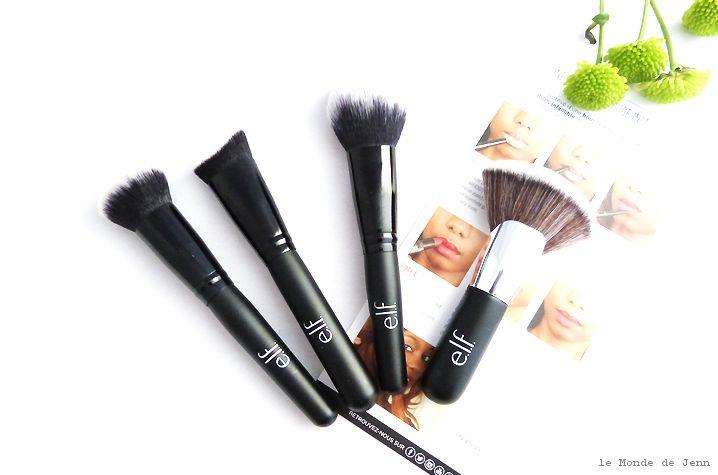 Pinceau mélangeur (#96001) - Pinceau visage sculpté (#84037) - Pinceau teint parfait (#84038) - Pinceau poudre selfie (#84040) http://www.eyeslipsface.fr/maquillage/accessoires/pinceaux-et-applicateurs-1
