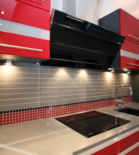 #kitchen #red #kitchendesign #interiordesign #kitchenideas #homeinspiration