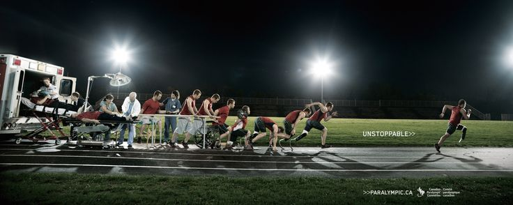Inspiring image promoting the Canadian Paralympics