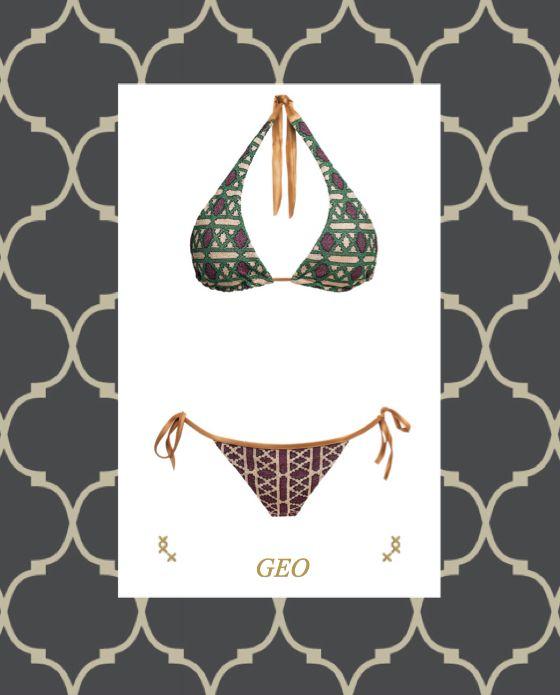 MITOS Geo bikini in purple  #mitoswimwear #bikini #summer #beach #sea #purple #mitos #moroccan