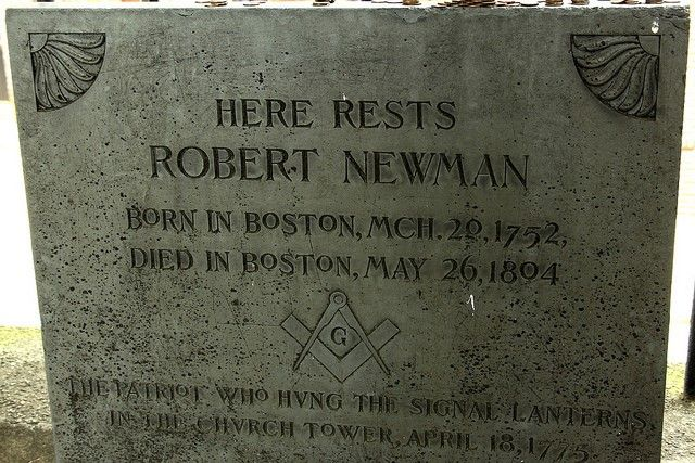 Robert Newman (1752-1804) American Revolutionary patriot. He was sexton of Christ Church, Boston, and he is credited by some as the one who hung the lanterns in the church steeple that started Paul Revere, on his famous ride the night of April 18, 1775.