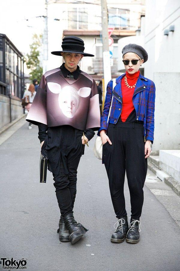Juun.J Neoprene Sweater, Gucci Biker Jacket, Avan Trance & Mawi in Harajuku
