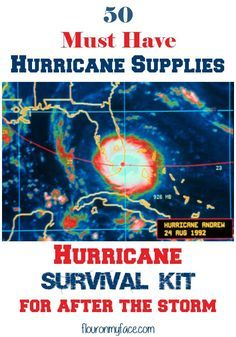 50 Must have Hurricane Supplies for after the storm via http://flouronmyface.com